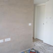 צביעת קיר עם אפקט צבע