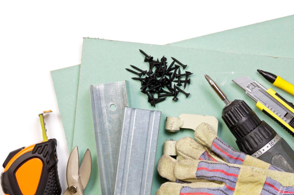 תיקון קירות גבס - ערכת כלים