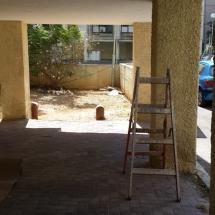 צביעת קירות חיצוניים - במהלך העבודה